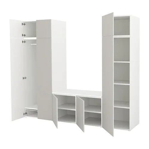 Шкаф IKEA PLATSA 260x57x221 см Skatval светло-серый белый 392.520.87