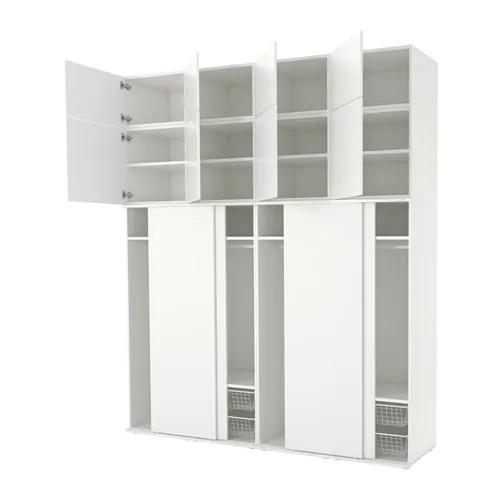 Шкаф IKEA PLATSA 240x61x281 см Fonnes белый 592.486.26