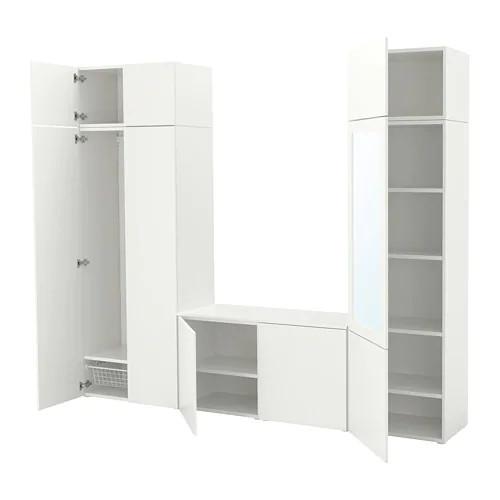 Шкаф IKEA PLATSA 260x42x221 см Fonnes Ridabu белый 692.483.29