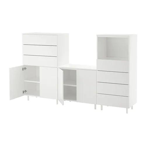 Шкаф / стеллаж IKEA PLATSA 220x42x133 см Fonnes белый 192.521.25