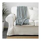 Плед IKEA TUVALIE 120x180 см в полоску белый сине-зеленый 203.537.79, фото 3