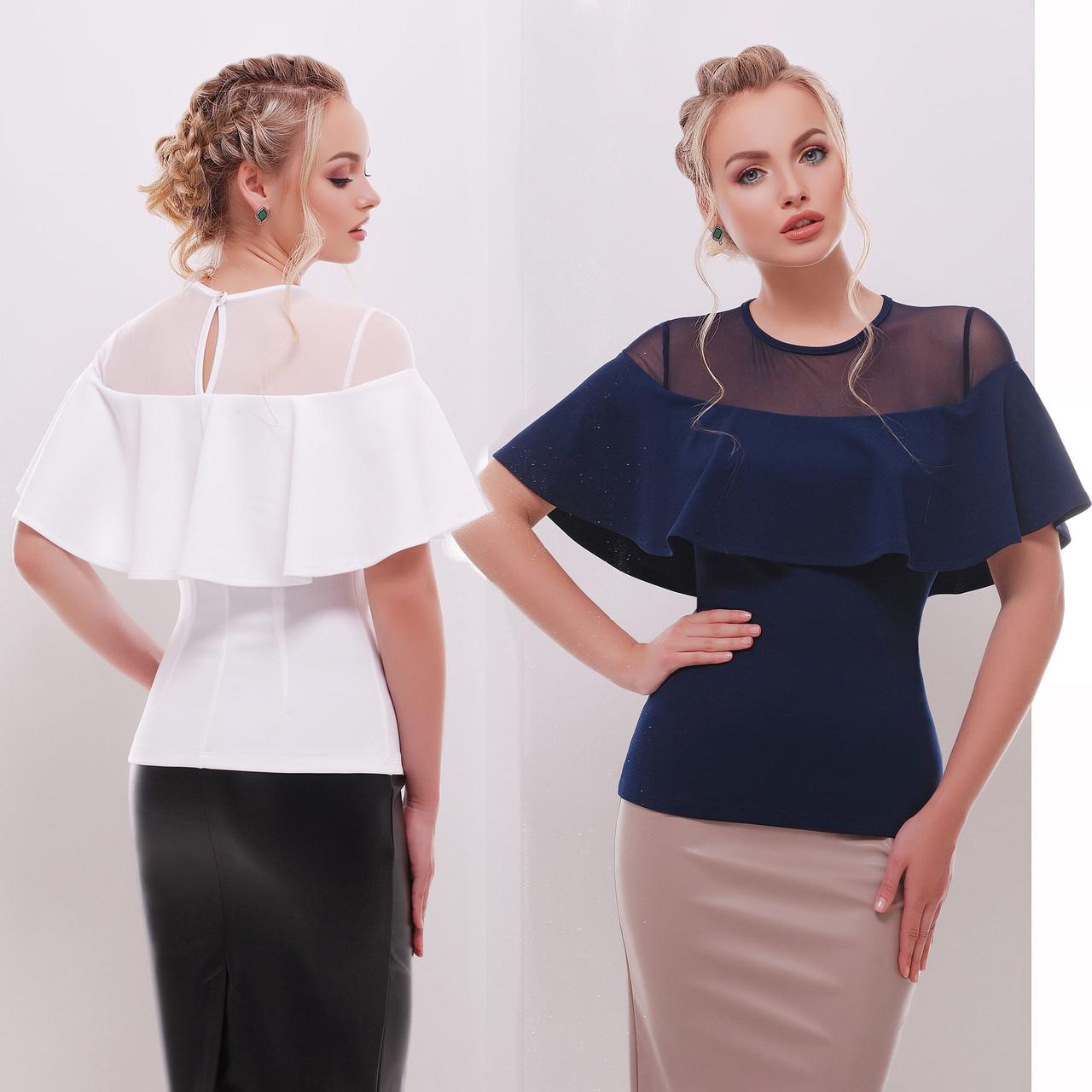 a8a21aa327a6 Купить Женская летняя блузка с воланом на плечах и прозрачной ...