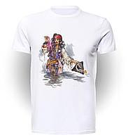 Футболка мужская размер L GeekLand Пираты Карибского Моря Pirates of the Caribbean Jack & The Sea P.01.10