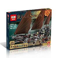 "Конструктор Lepin 16018, ""Властелин Колец - Атака  пиратского корабля"", 756 деталей, аналог Lego 79008"
