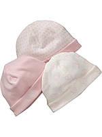 Трикотажные шапочки для девочки (3 шт). 6-12 месяцев