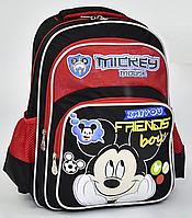 """Детский школьный рюкзак ортопедический 45х35х20см """"МИККИ МАУС"""". Портфель, ранец для мальчиков.ЧЕРНЫЙ."""