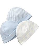 Трикотажные шапочки для мальчика (3 шт). 6-12 месяцев