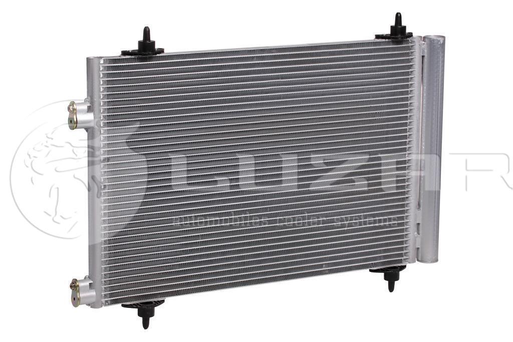 Радиатор кондиционера Citroen C4 1.4i / 1.6i / 2.0i (04-) с ресивером (LRAC 20GK) Luzar