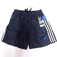 Шорты мужские спортивные Adidas, размеры M-3XL, тёмно-синие, 8805
