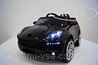Детский электромобиль КХ7878 Porsche Макан EVA Резина, Кожа, 4Амортизатора, дитячий електромобіль чёрный