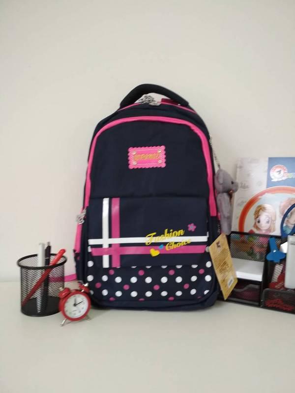 c4fcfdf7781b Стильный школьный рюкзак для девочки синего цвета 40*25*17 см - Puziki.