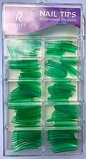 Накладные искусственные типсы GLOBOS R clear Green, фото 3