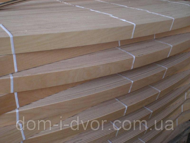 Ламель для кровати (латофлекс) буковая 900*53*8 с двумя креплениями
