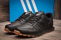 Кроссовки мужские в стиле Adidas, черные (11301),  [  42 43  ]