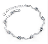 Серебряный браслет Нежность из стерлингового серебра 925 пробы (код 1014)
