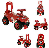 Машинка-каталка DOLONI с музыкальным рулем Красная (0142)