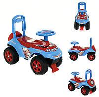 Машинка-каталка DOLONI с музыкальным рулем Красно-синяя (0142), фото 1