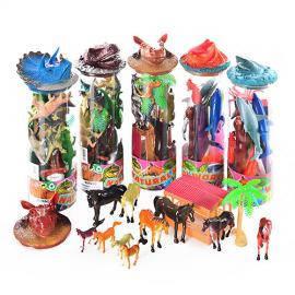 Наборы разных животных в тубусе, фото 2