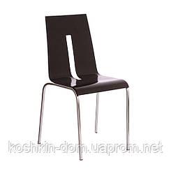 Стул Порто хром, темный орех (стулья для ресторанов)