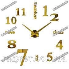 Зеркальные настенные часы. Большие зеркальные настенные часы золотого цвета. Часы для дома, офиса