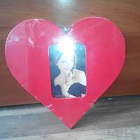 Фоторамка деревянная 10*15 Сердце