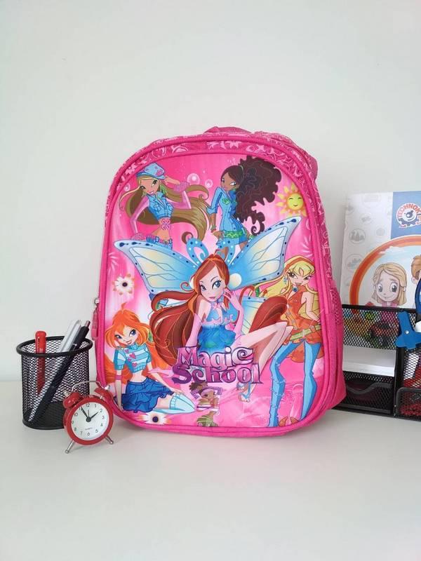 Малиновый школьный рюкзак для девочки Magic School 38*30*15 см