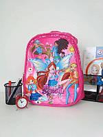 Малиновый школьный рюкзак для девочки Magic School 38*30*15 см, фото 1