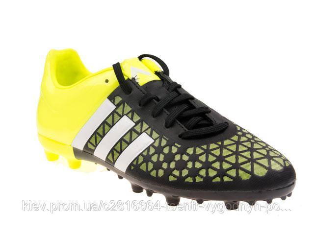 65684dff Детские футбольные бутсы Adidas Ace 15.3 FG/AG Jr черно-салат B32842, цена  1 155,70 грн., купить в Киеве — Prom.ua (ID#730395488)