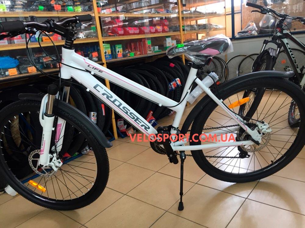 Горный велосипед Crosser Life 26 дюймов белый