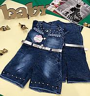 Комбинезон-шорты на девочку 2-3-4-5 лет