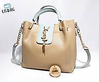 Женская сумка louis vuitton коричнево-бирюзовая реплика хорошего качества