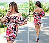 Женское трикотажное платье с оборкой Орхидея