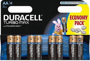 Батарейки Duracell AA TURBO MAX LR06 MX1500 1x8 шт ORIGINAL 1,5в(1.5v) Бельгія Оригінал