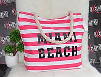 Женская розовая пляжная сумка с принтом., фото 1