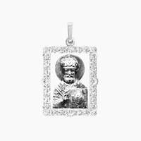 Ладанка серебряная Николай Чудотворец ЛП-136