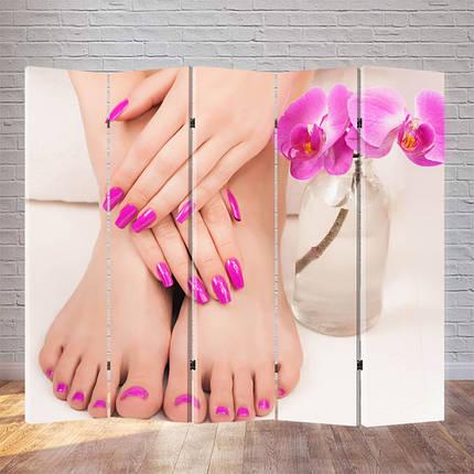 """Ширма для педикюрного кабинета """"Розовые ноготки"""", фото 2"""