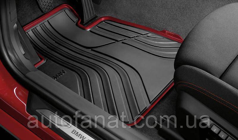 Комплект оригинальных ковриков салона для BMW 3 (F30) Sport Line резиновые (51472219800 / 51472219803)