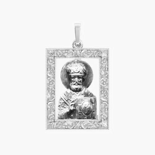 Ладанка серебряная Николай Чудотворец ЛП-133