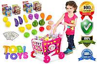 Детская тележка для покупок марки Tobi Toys