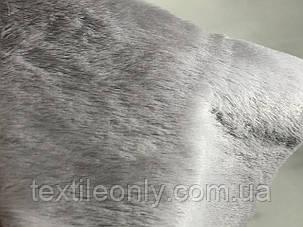 Хутро штучне нерпа колір Світло сірий, фото 2