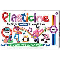 Пластилін дитячий. Не висихає. 24 кольори. 400 г.