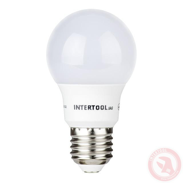 Светодиодная лампа LED 7Вт, E27, 220В, INTERTOOL LL-0003