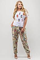 Летние женские брюки большого размера, 52, 54, 56, 58, 60, 62