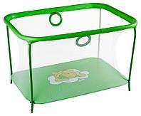 Манеж детский игровой KinderBox люкс Салатовый мишка с мелкой сеткой (km557), фото 1