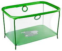 Манеж детский игровой KinderBox люкс Салатовый слоник с мелкой сеткой (km559), фото 1