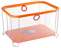 Манеж детский игровой KinderBox солнышко Оранжевый слоник с мелкой сеткой (kms 8995)