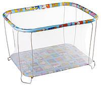 Манеж детский игровой KinderBox классический Веселая ферма с мелкой сеточкой (kmk 8815)