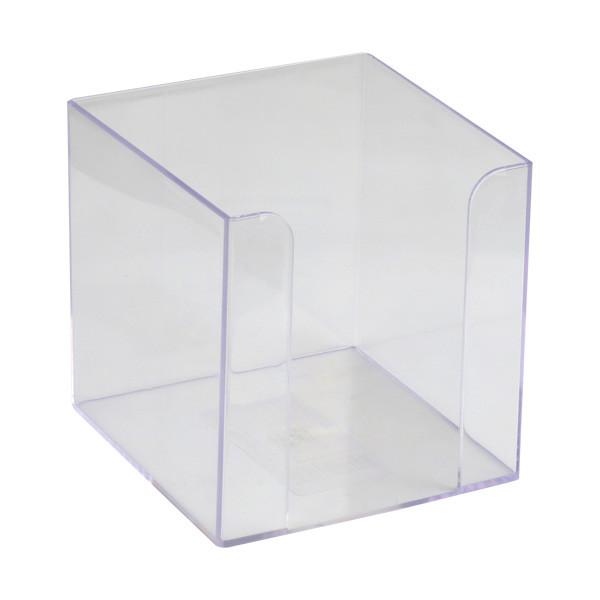 Подставка для блока бумаги Axent 90x90x90 мм прозрачный D4005-27