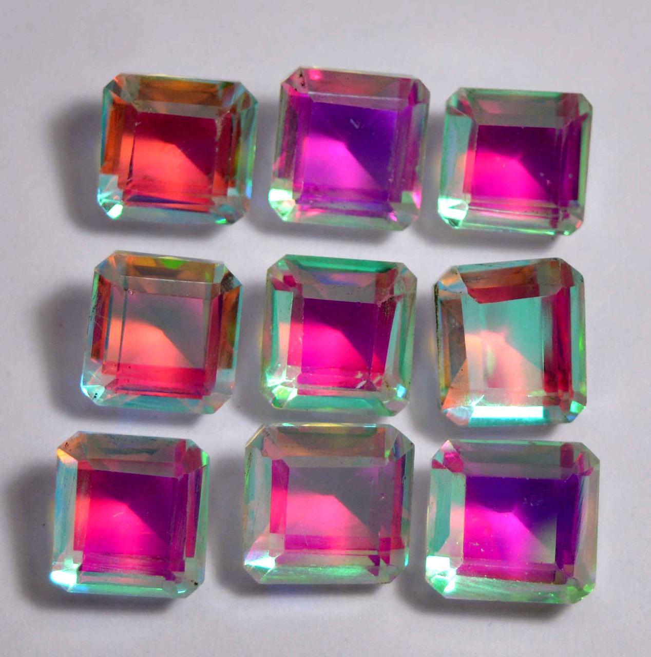 Натуральный радужный кварц 118.15 Ct   оптом 9 шт