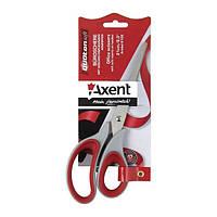 Ножницы Axent Duoton Soft 16,5см канцелярские серо-красные 6101-06-А